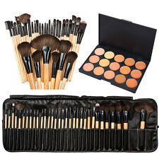 15 Colors Face Concealer Camouflage Cream Contour Palette 32Pcs Makeup Brush Set