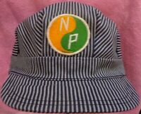 RAILROAD HAT ENGINEER NORTHERN PACIFIC GREEN/GOLD  PATCH