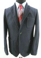 Oliver Spencer Solms Slim Fit Wool Sport Coat Jacket Mens 42R 42 Blue $625