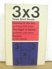 3 X 3 Three Short Novels Thomas Firth Jones, Charles Reiter & John Schultz HB/DJ