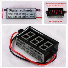 """Micro 0.56"""" Digital Voltmeter Car Motorcycle Voltage Panel Meter Red LED Display"""