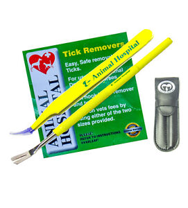 Highest Quality Animal Hospital Tick removal Kit Stainless Steel + Free Pouch