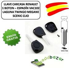LLAVE CARCASA RENAULT LAGUNA MEGANE TWINGO SCENIC 1 BOTON VAC102 INFRARROJOS