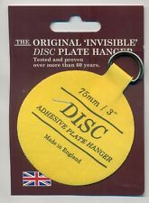 The Original Invisible Disc Plate Hanger - 75mm Size