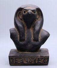 Rare Egyptian Falcon Horus Antique Egypt Goddess Carved Stone Bc