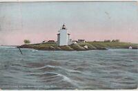 Dutch Island Light House Narragansett Bay RI vintage postcard, early 1900s