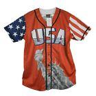 Greater Half USA Statue of Liberty America #1 Patriotic Men's Baseball Jersey