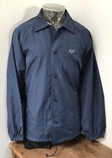 Mens XXL 2XL FOX Racing Lined Mesh Windbreaker Snap Button Vintage Jacket
