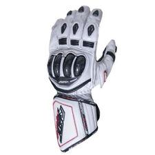 Gants blancs articulation en cuir pour motocyclette