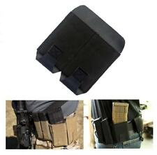 """Tactical Dual Pistol Mag Pouch for Handguns with Belt Clip Fits 2"""" width Belts"""