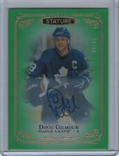 2019-20 UD Stature Autograph Green Parallel #100 Doug Glimour 64/65