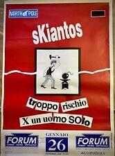 SKIANTOS - Poster Originale Pubblicitario - Concerto S.Ilario D'Enza (RE) - 1990