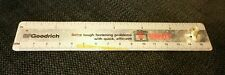 15cm Ruler advertising BF Goodrich Rivnuts blind fasteners, with actual Rivnut