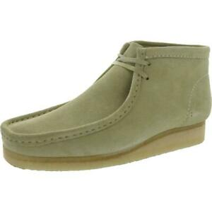 Clarks Mens Wallabee Boot Beige Chukka Boots Shoes 9.5 Medium (D) BHFO 2730