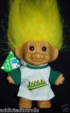 "Oakland Athletics Good Luck Troll Doll Baseball - Russ Troll Doll 3"""