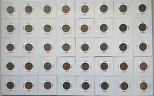 Malaysia 10 cent sen coins 1967 - 2018 set 42 pcs