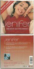 CD 2 TITRES - JENIFER : DES MOTS QUI RESONNENT