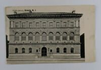 Postcard Divided Back Public Library Building Neward New Jersey