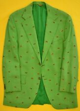Chipp 'Trout Fly Embroidered Irish Linen Blazer