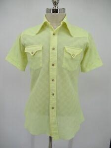 L6348 VTG H Bar C Ranchwear Pearl-Snap Short-Sleeve Western Shirt Size 15.5