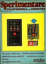 SPERIMENTARE # N.11 Novembre 1983 # Rivista Mensile Elettronica Elettrotecnica