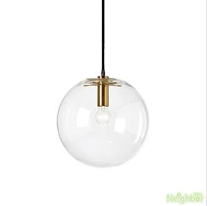 Clear glass bubble LED pendant lamp Ball Ceiling lights suspension chandelier