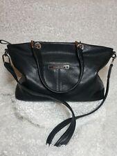 VINTAGE Longchamp Black Genuine Leather Should bag/Purse 13x8x6