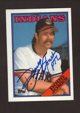 Doug Jones--Autographed 1988 Topps Baseball Card--Cleveland Indians