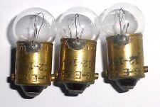 3 ampoules à baïonnette Ba9s 12-16 volts GE53 50mA US ARMY - testées 100% OK