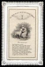 santino merlettato-holy card-canivet*LETAILLE pl.17 IL SOLO DEGNO DEL NS.AMORE
