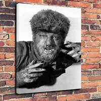 """Classic Horror The Wolfman,Printed Canvas A1.30""""x20""""Deep30mm Frame Lon Chaney JR"""