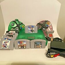 Nintendo 64 Console Jungle Green With Expansion Pack 2 Controllers/8Games Bundle