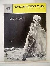 SHOW GIRL Playbill CAROL CHANNING / LES QUAT' JEUDIS / JULES MUNSHIN NYC 1961