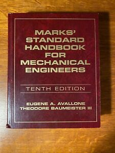 Marks' Standard Handbook for Mechanical Engineers, Baumeister, Theodore,Avallone