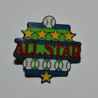 Nice Little League Award Baseball ALL STAR Jacket Hat Metal Pin Pinback