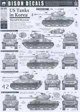 Bison Decals 1/35 U.S. TANKS IN KOREA #3 M4A3E8 Sherman HVSS Tank