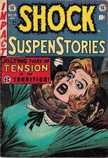 SHOCK SUSPENSTORIES #15 (1954)  FN+ 6.5  STRANGULATION COVER GOLDEN AGE EC