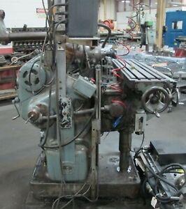 "Abene Horizontal Vertical Milling machine. 10"" x 44"" table, dro, power feed"
