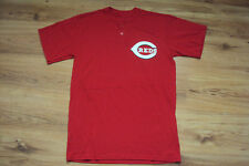 CINCINNATI REDS MAJESTIC NEW MLB TEAM LOGO TWO BUTTON T-SHIRT