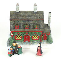 Lang & Wise Folk Art Villages Christmas Tea Shoppe Lighted Home 1st Edition 1996