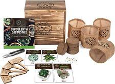 Cactus Succulent Seed Starter Kit Seeds Soil Pots Plant Markers Garden Republic
