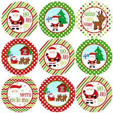 144 Jolly Christmas 30mm Children's Reward Santa Stickers for Parents, Teachers
