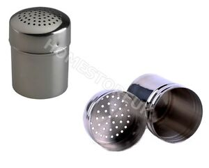STAINLESS STEEL SHAKER SPRINKLER ATTA FLOUR SUGAR COCOA CHOCOLATE BAKING DREDGER