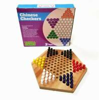 Wood Chinese Checkers Game with Wooden Pegs - Ancient Chinese Checkers