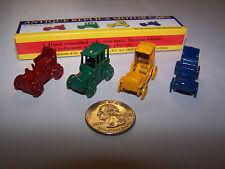 Set Of 4 Shackman Diecast Miniature Replica Motor Cars Auto