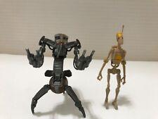 Star Wars Action Figures Command Battle Droid ('08) Destroyer Droid ('98)