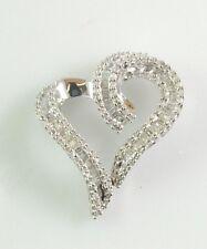 10 kt white gold Diamond Heart pendant D=0.50