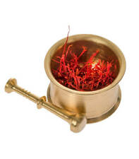 Saffron and Grinder with 100% Pure All Red Premium Saffron by NATURAL MOREISH