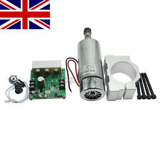 CNC MILLING Air Cooled 400W Spindle Motor & PWM Speed Controller & Mount UK ##