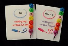 5 x Kids Scribble pad wedding favour fun set